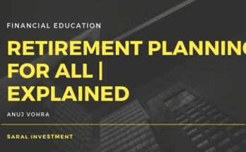 Retirement planning by Saral Investment