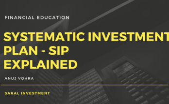 SIP explained by Saral Investment